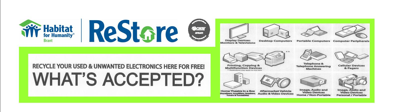 ReStore Electronic Waste banner2015