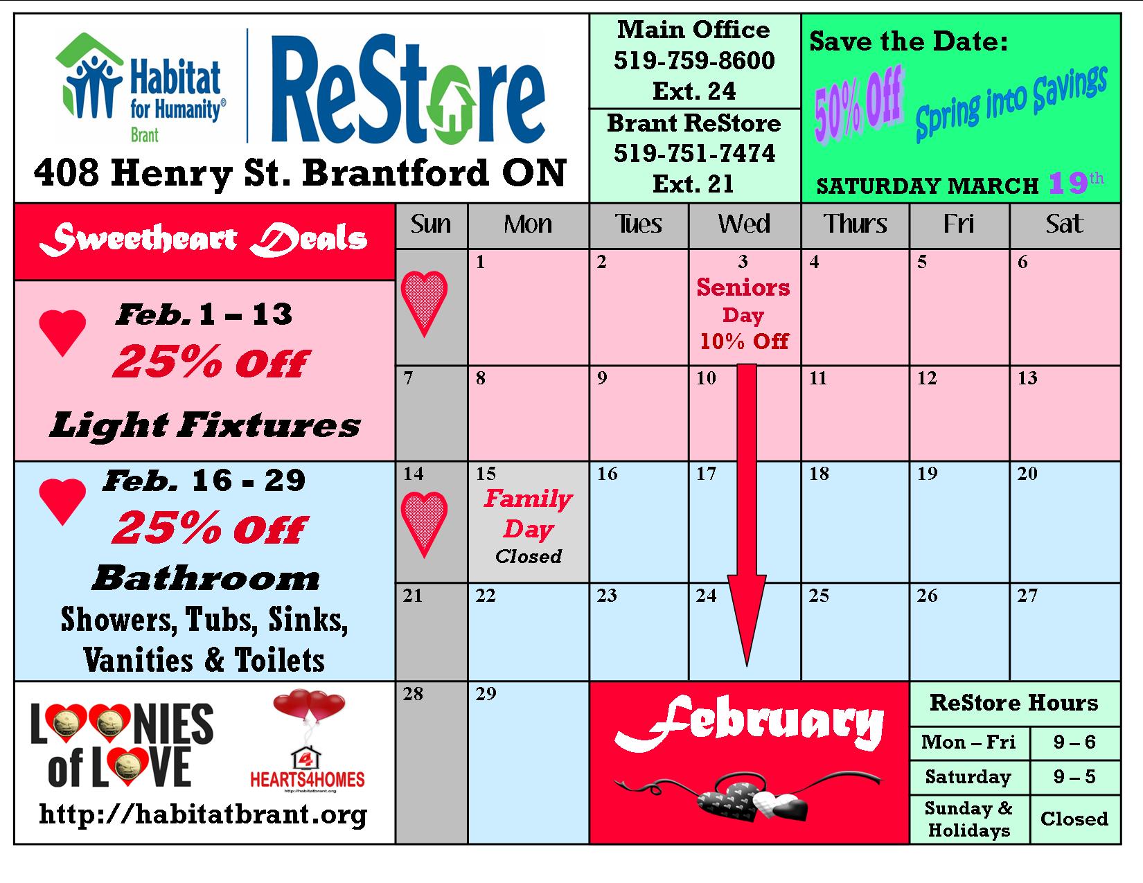 feb sales cal ReStore
