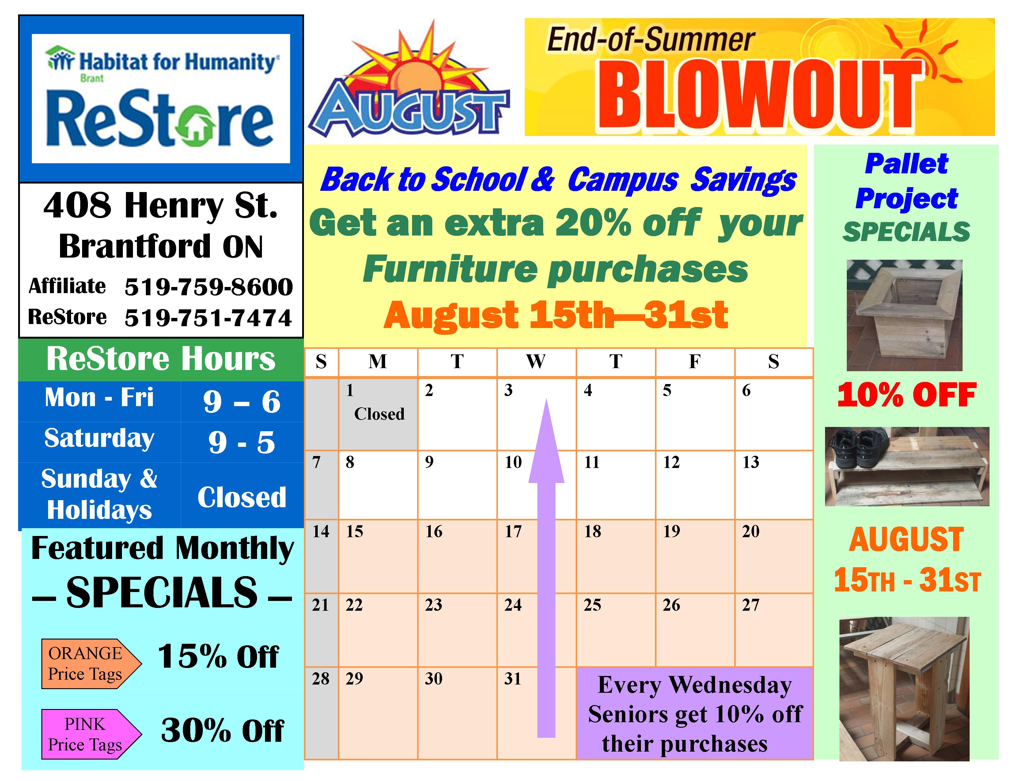 august sales calendar